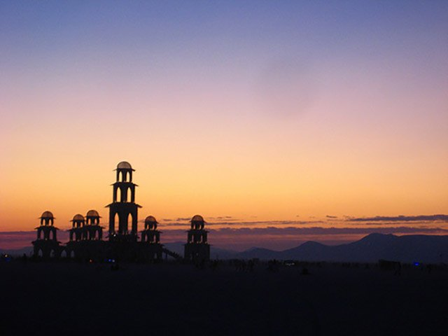 The Temple of Transition at Burning Man 2011.