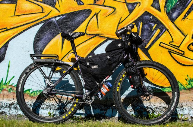 A rigid mountain bike with wide tires is ideal for soaking up rough terrain on big off-road riding days. The author's bike was perfect for conquering Iceland's volcanic rock and loose sand.