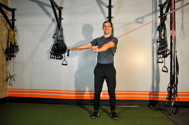 You can do this move with a resistance band or a cable machine.