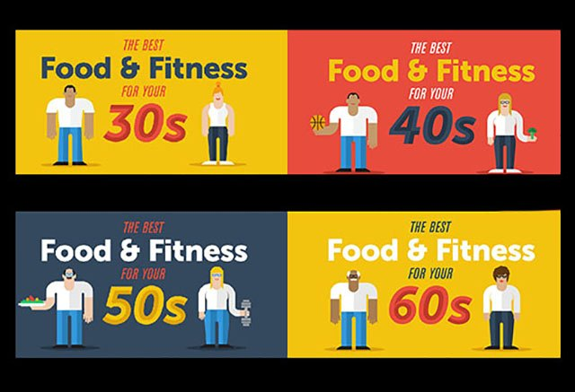 Food and fitness tips tailored to every age group.