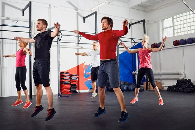 Jumping jacks are a great way to warm your body up for the real work ahead.