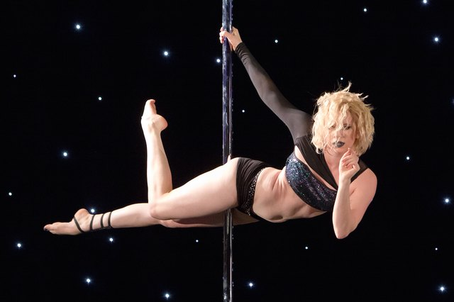 Bethlayne Hansen performs a pole routine.