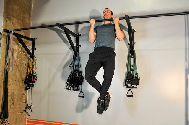 All you need is a pull-up bar.