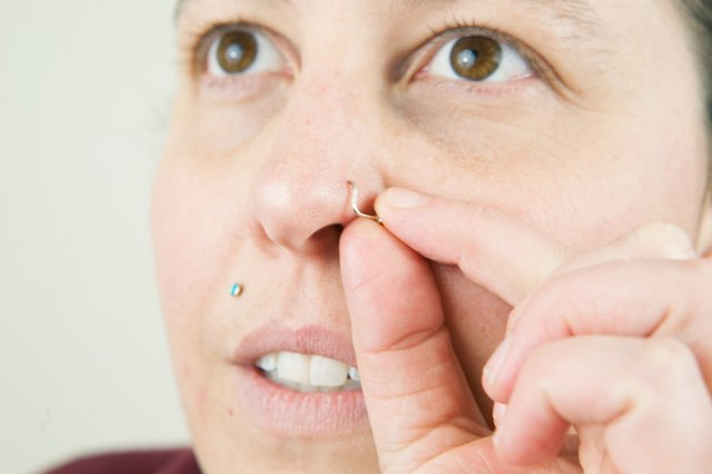 How to Put in a Curved Nose Ring