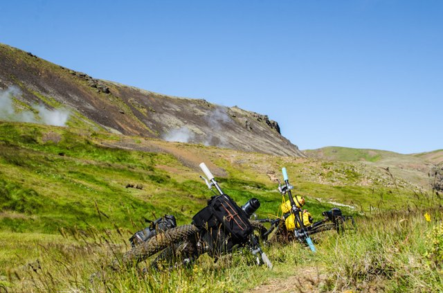 In the heart of Iceland's hot-spring country: A mountain bike can be your ticket to amazing places.