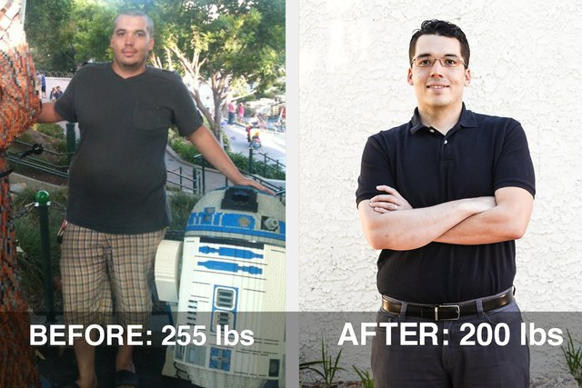 Mikal lost 55 pounds!