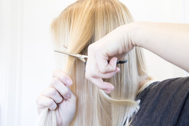 How To Thin Your Own Hair With Thinning Shears