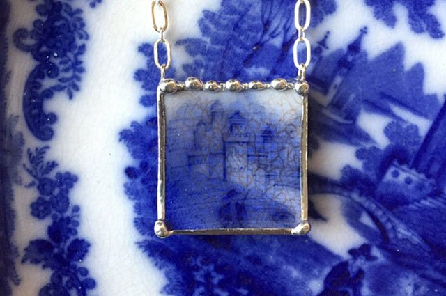 Turn well-loved china into pendants.