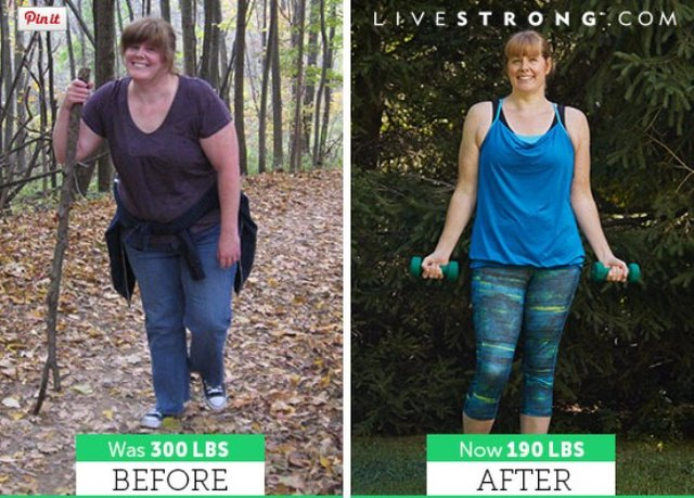 Stephanie lost 110 pounds and dropped five sizes!
