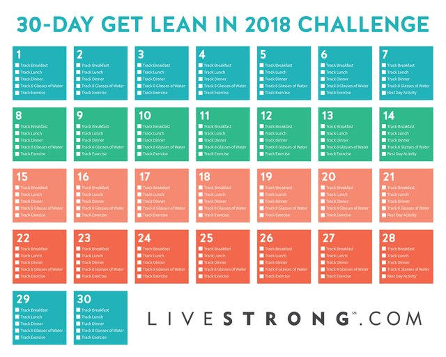 the 30 day get lean in 2018 challenge livestrong com