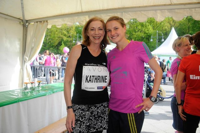 Kathrine Switzer at the 30th annual AVON Women's Run in Berlin.