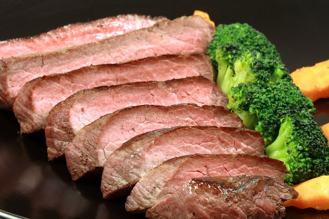 Flank steak is used in a traditional London broil dish, but now round or shoulder are also used.