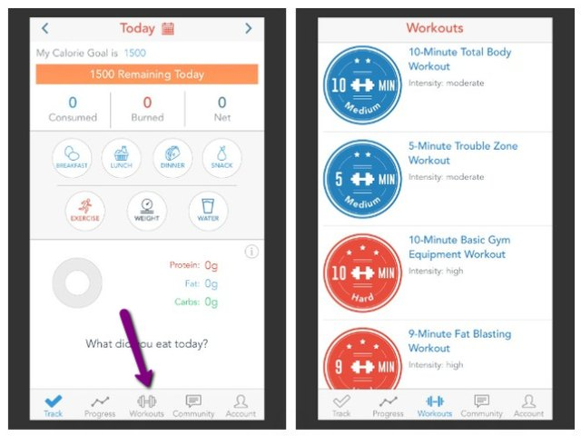 Visit the Workouts tab in the iPhone app to view the available workouts.