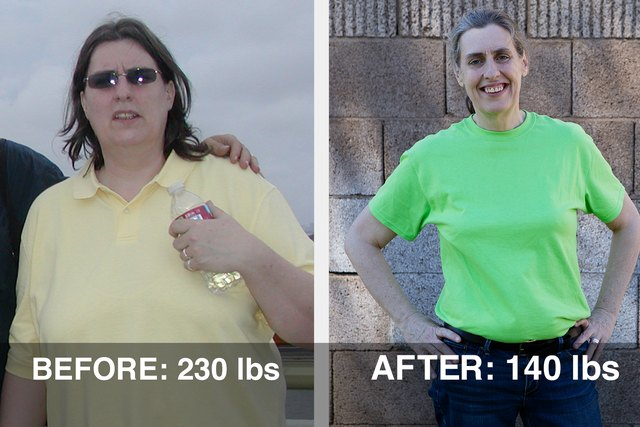 Teresa lost 90 pounds in one year following a pescatarian diet and tracking calories on the LIVESTRONG.COM Calorie Tracker.