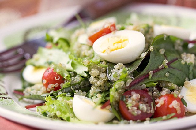 Use quinoa as a base for a hearty salad.
