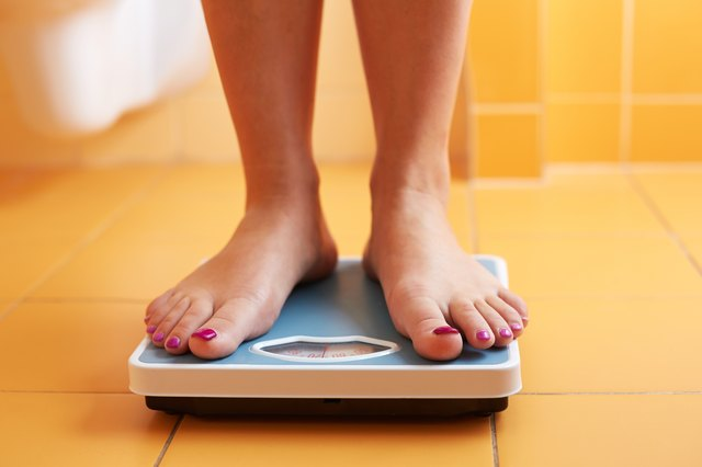 Understand that the scale may go up and down as you work to lose weight. Don't let setbacks get you down.