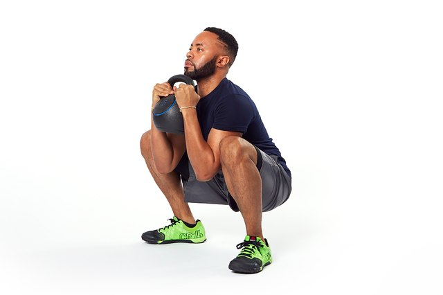 Go as deep into the squat as your hips will safely allow.