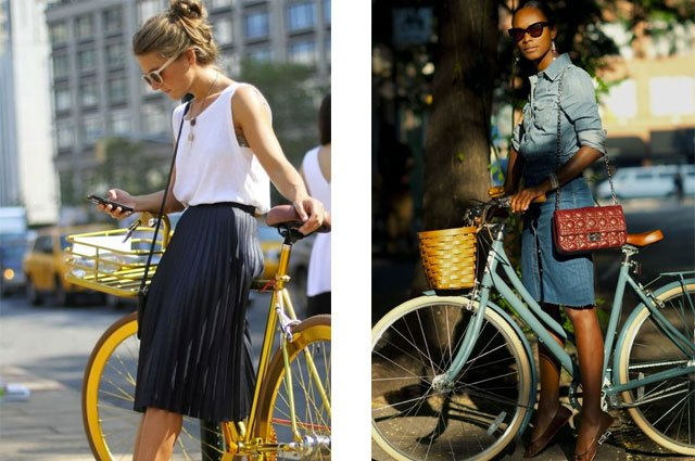 Midi-length and A-line skirts look cute and are functional.