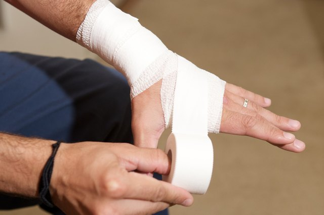 How to Wrap a Wrist With Athletic Tape