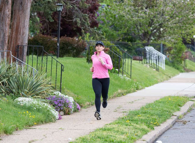 Janice runs around 15 to 20 miles a week during warmer months.