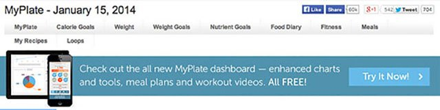 If you get this banner, that means you are using the old version of MyPlate.