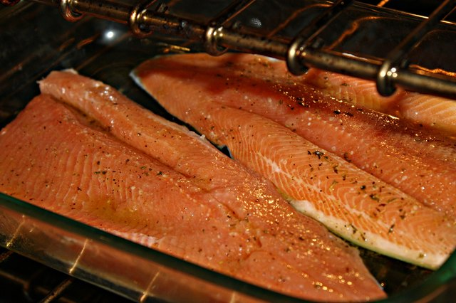 How to cook red steelhead trout fillet fish in oven for How to cook fish fillet