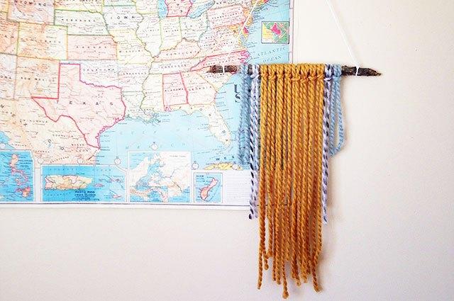 Use yarn scraps to make cool mobiles.