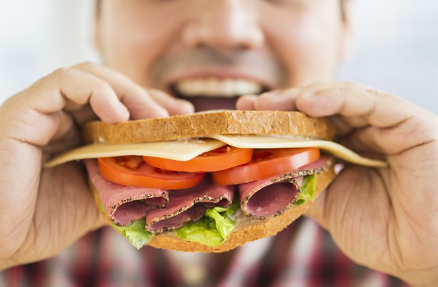 Swallowing air when eating, especially too fast, can cause gas and bloating.