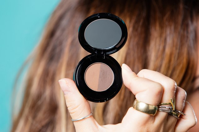 Use brow powder or eye shadow that matches your brow color.