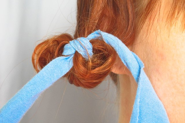How to Spiral Wrap Hair With Rags
