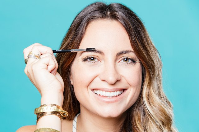 Blend using an eyebrow brush or clean mascara spoolie to brush up and out.