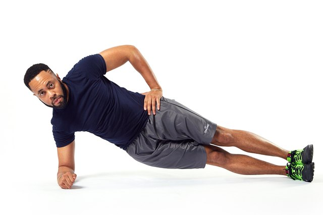 Side planks strengthen your obliques, which are usually weaker.