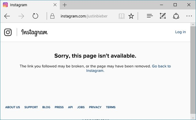 A dark day for #Beliebers: Fans faced this sad page on the morning of Tuesday, August 16, 2016.