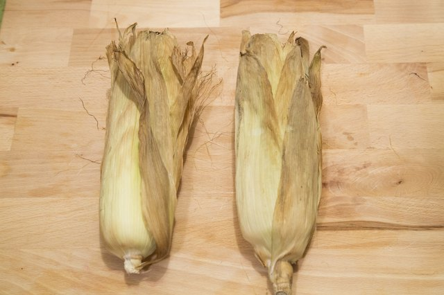 How to Roast Corn in the Oven With the Husk and Silk