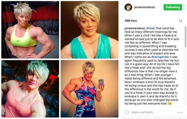 Today, Janae is a transgender advocate who posts about fitness, life and transgender advocacy on Instagram.