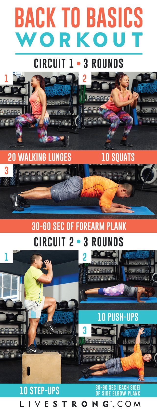 Two circuits. Three rounds. One awesome workout.