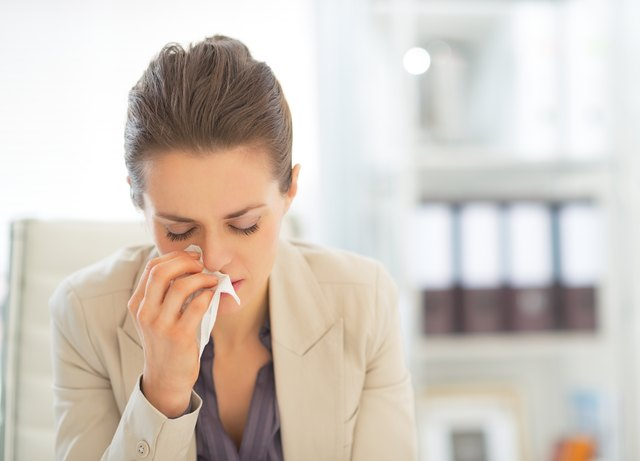 Many people catch a cold in the workplace.