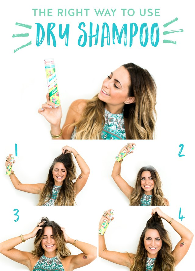 Here's how to use dry shampoo (the right way) in four easy steps!