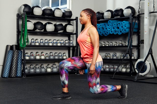 You can do your walking lunges with or without weights.
