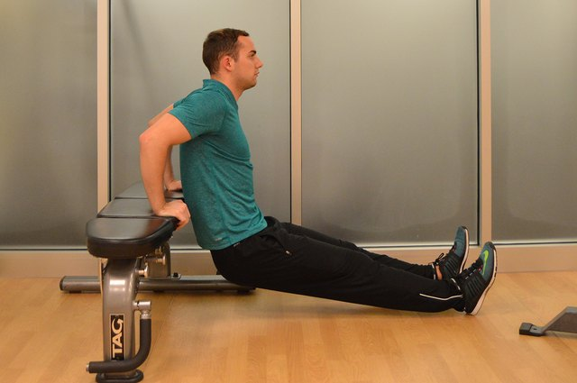 Target the triceps with this dip variation.