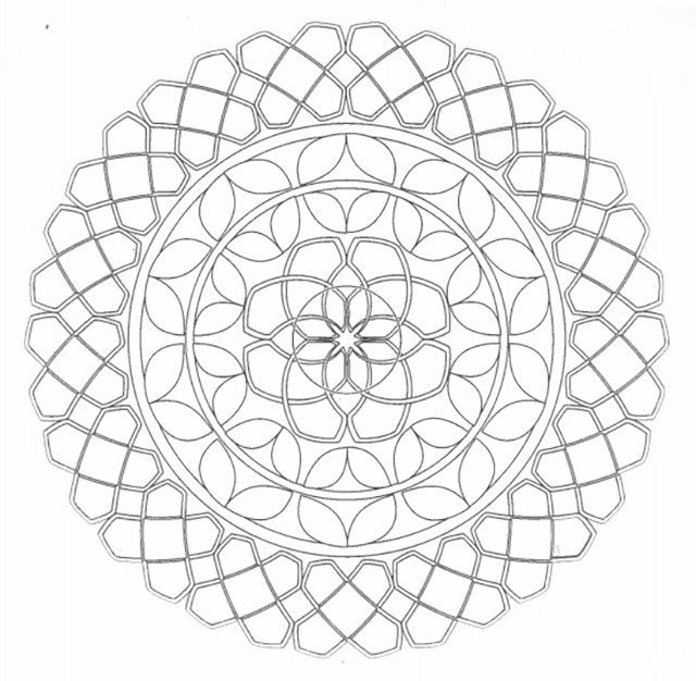 Coloring geometric patterns calms the mind.