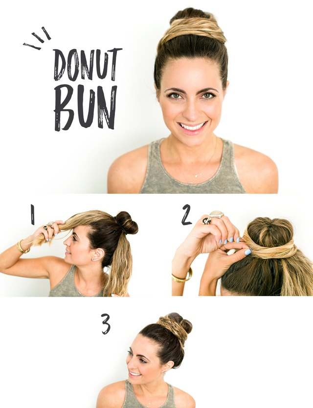 Step by step instructions for a foam doughnut.