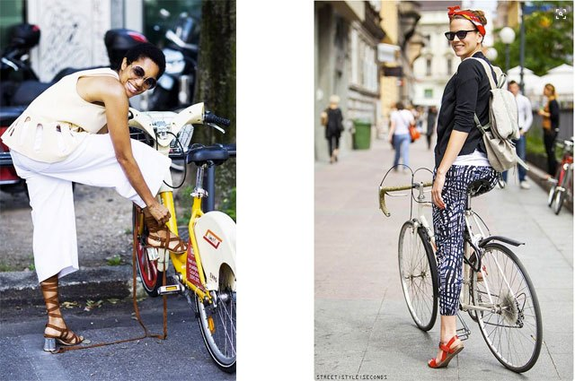 Ride wearing culottes or cropped leggings in a great pattern.