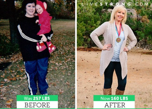 Leslie lost 97 pounds and dropped nine sizes!