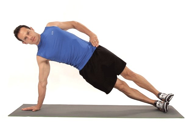 Proper form for a side plank.