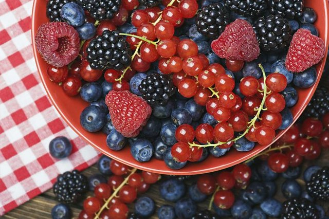 Berries have high amounts of antioxidants.