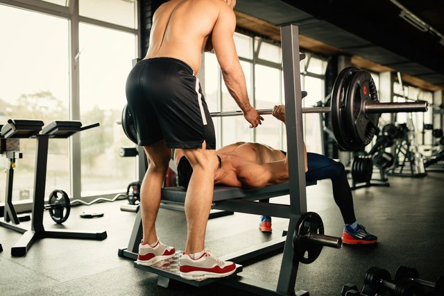 A bench press allows you to lift more weight than does a fly.