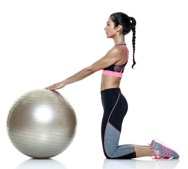 A stability ball builds your stamina for the ab wheel.