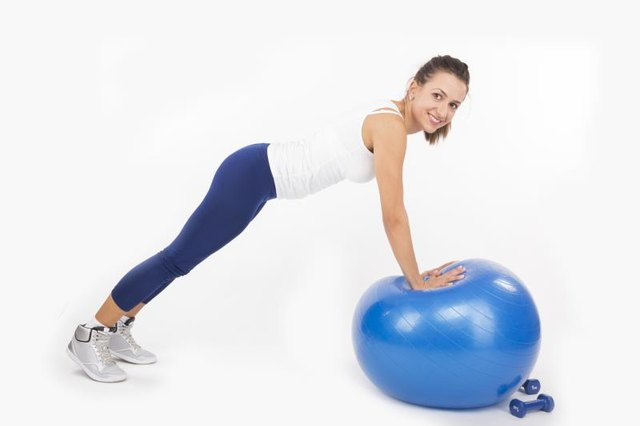 Push-up plus can done on a stability ball strengthens the serratus anterior.