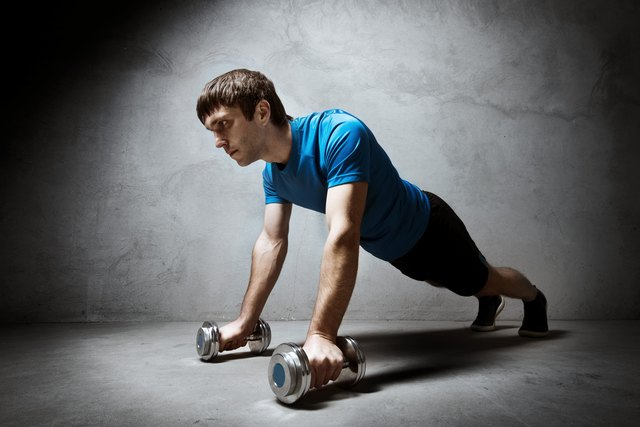 Placing your hands on dumbbells also neutralizes your wrists.